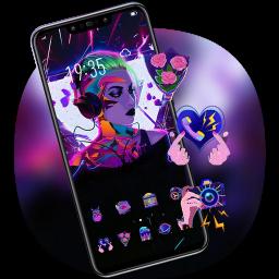 Beautiful Music Girl Theme Galaxy M20 Launcher