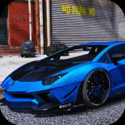 Driving Lamborghini Aventador City Racer