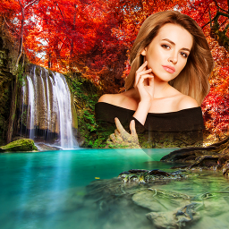 Waterfall Photo Editor : Waterfall Photo frame