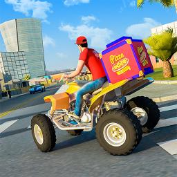ATV Pizza Bike Rider Delivery Boy