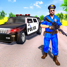 Grand Police SUV Mountain Car Gangster Chase