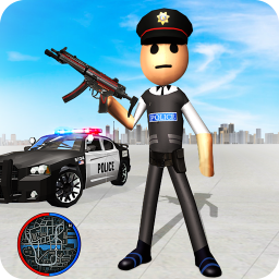 Stickman Police Chase Gangster Hero Prison Escape
