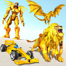 Formula Car Robot Transform - Flying Dragon Robot
