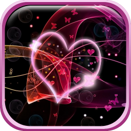 Neon Hearts Live Wallpaper