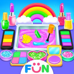 Rainbow DIY Makeup Kit Slime –Unicorn Star Slime