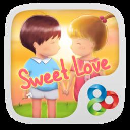 Sweet love GO Launcher Theme