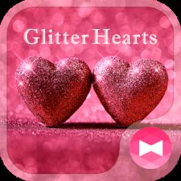 Lovely Wallpaper Glitter Hearts Theme